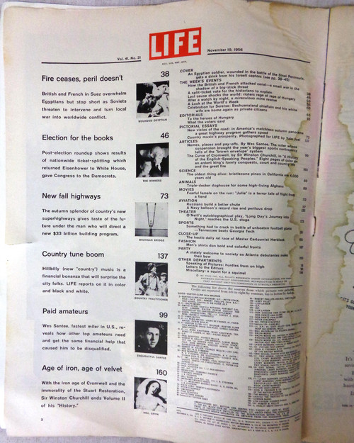 Life Magazine November 19, 1956