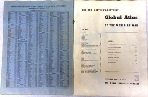 The New Matthews Northrup Global Atlas of World War II