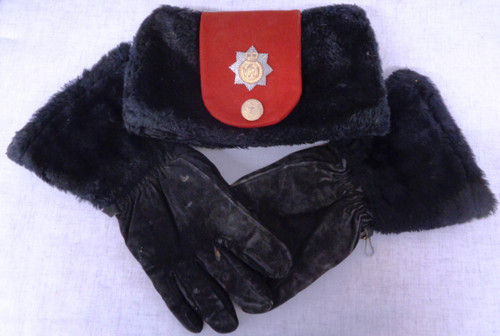 Canada Parktown Hat with Royal Canadian Regiment Hat Badge and Gloves circa 1977