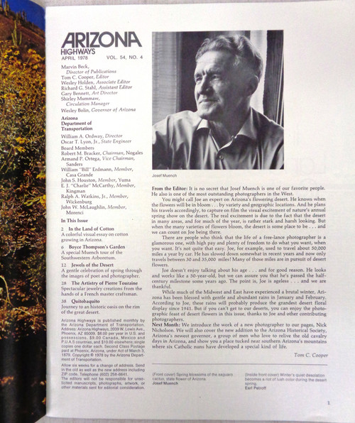 Arizona Highways Vol. 54 No. 4 April 1978