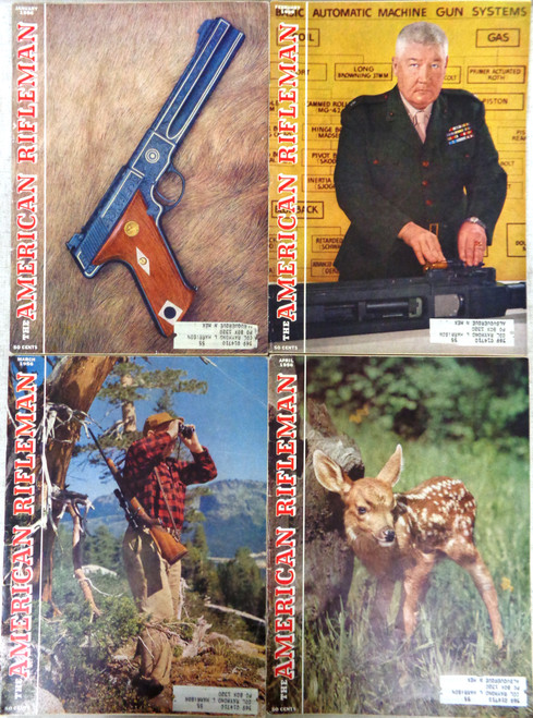 The American Rifleman Magazine 1956 - 12 Issues