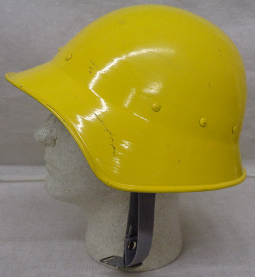 Swiss WWII Civil Defense Fire Fighter Steel Helmet with Liner and Chin Strap