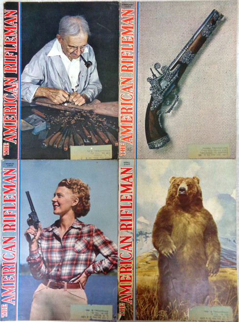 The American Rifleman Magazine 1949 - 12 Issues