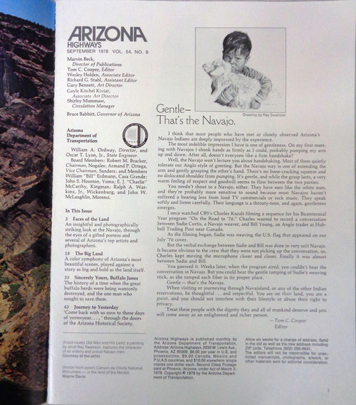 Arizona Highways Vol. 54 No. 9 September 1978