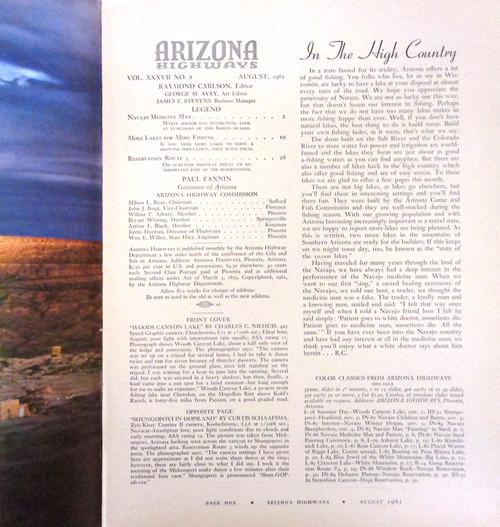 Arizona Highways Vol. 37 No. 8 August 1961