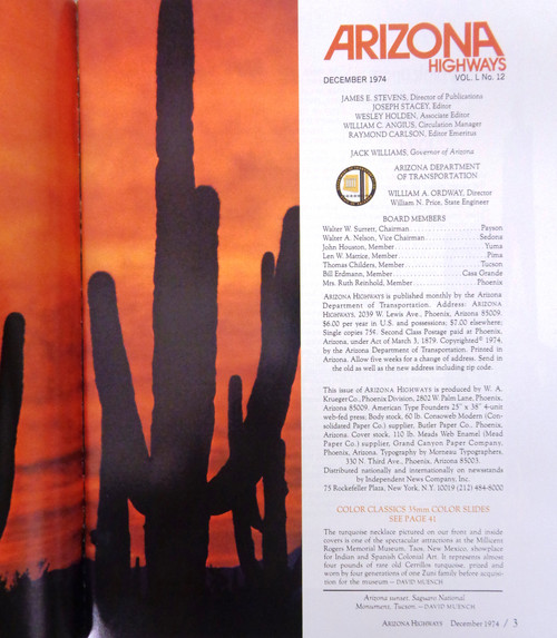 Arizona Highways Vol. 50 No. 12 December 1974