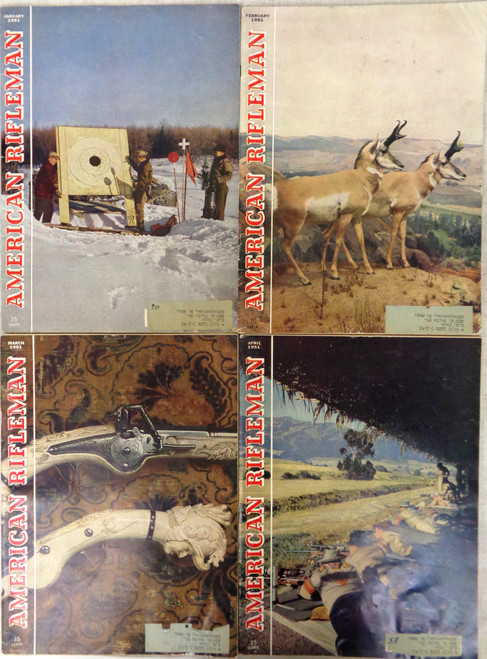 The American Rifleman Magazine 1951 - 12 Issues