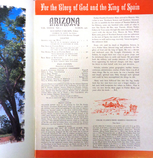 Arizona Highways Vol. 37 No. 3 March 1961