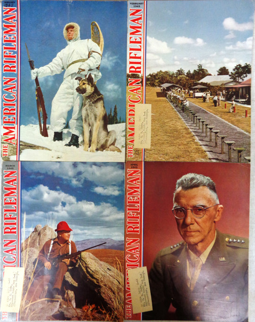The American Rifleman Magazine 1945 - 12 Issues