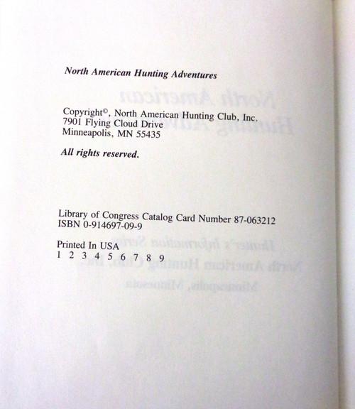 North American Hunting Adventures edited by Steve Pennaz