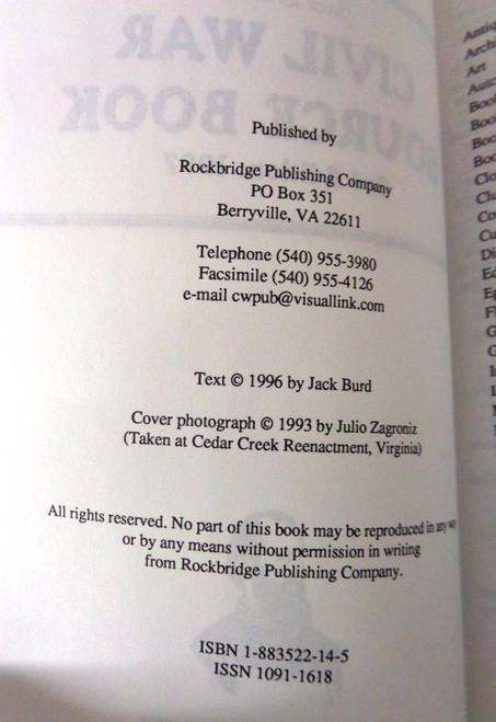 Jack Burd's Civil War Source Book 1997