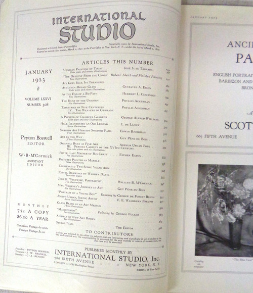 International Studios Magazine Volume 76 Number 308 January 1923