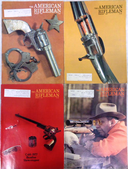 The American Rifleman Magazine 1977 - 12 Issues