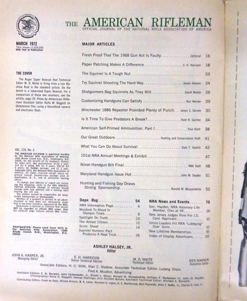 The American Rifleman Magazine 1972 - March