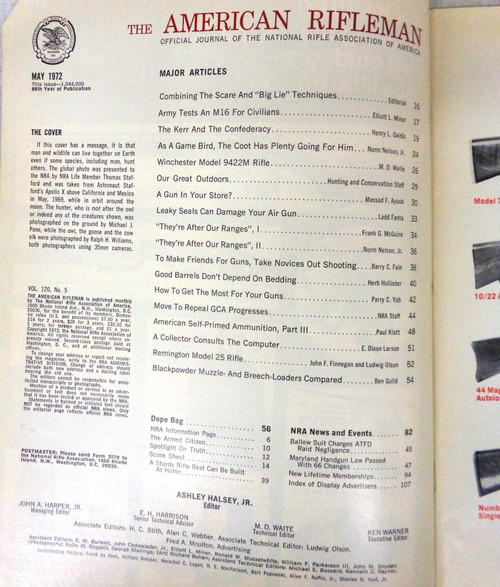 The American Rifleman Magazine 1972 - May