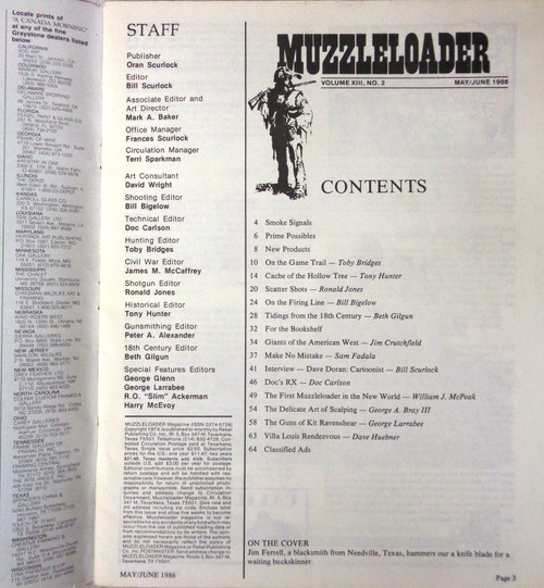 Muzzleloader Vol. 13 No. 2 May/June 1986
