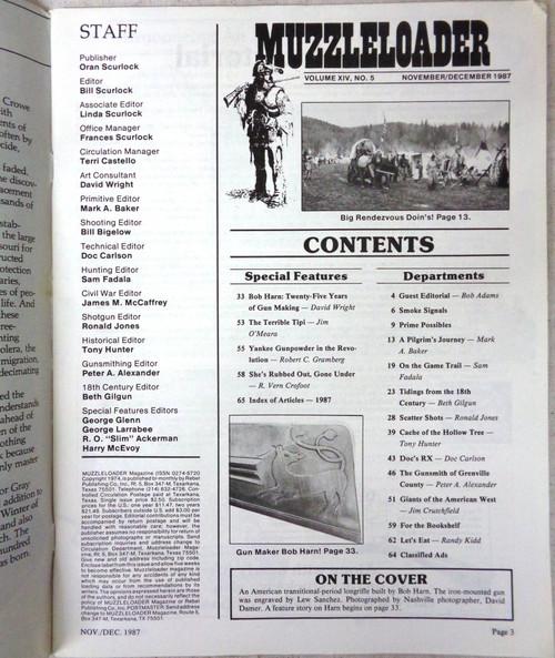 Muzzleloader Vol. 14 No. 5 November/December 1987