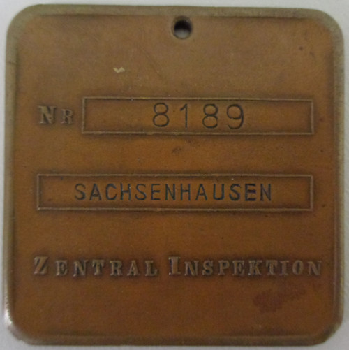 German WWII Gestapo Police Inspection Tag - REPRO