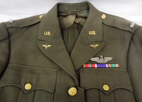U.S. WWII 1st Lt. 9th Air Force Dress Uniform Jacket with Sr. Crew Wings & Assoc. Ribbons