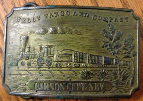 Tiffany London England Carson City Nev Brass Buckle circa mid-1960's