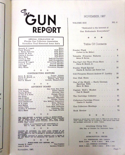The Gun Report Vol. 13 No. 06 November 1967