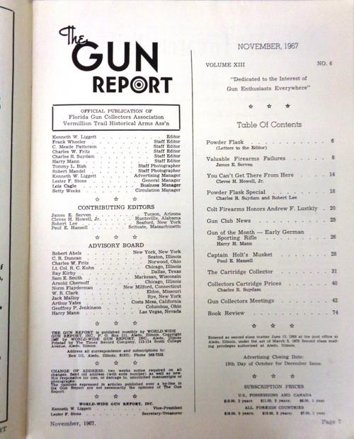 The Gun Report Vol. 13 No. 06 November 1967