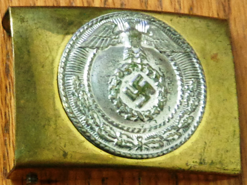 German WWII NSDAP Brass Belt Buckle