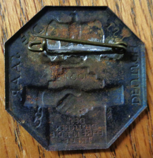 "German Nazi 1934 ""The Saar is German"" Pin / Tinnie"