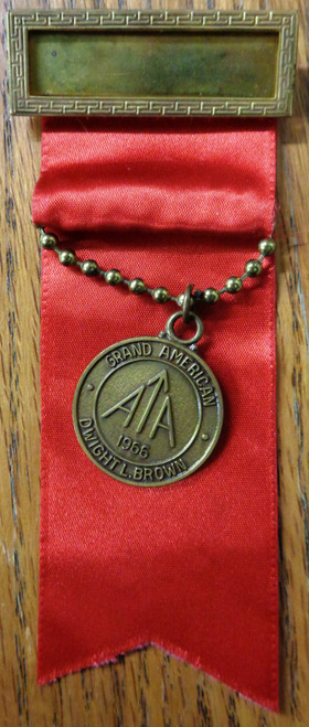 Amateur Trapshooting Assoc. Grand American Medal 1966 - Red