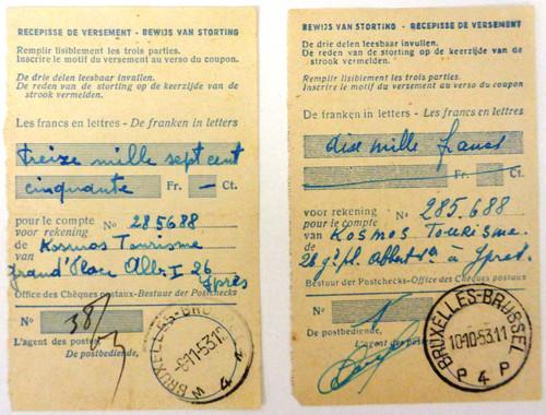 Belgium Identification Card 1952