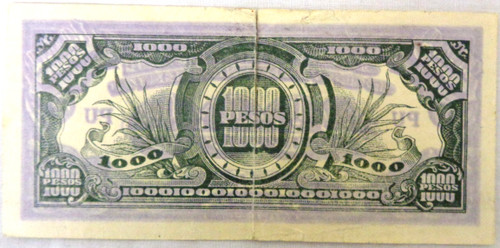 Japanese WWII Invasion Money 1000 Pesos