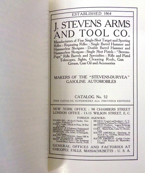 J. Stevens Arms & Tool Company Catalog 52 - Reprint