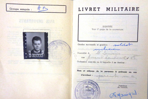 Belgium 1962 Armed Forces Identification with a photo