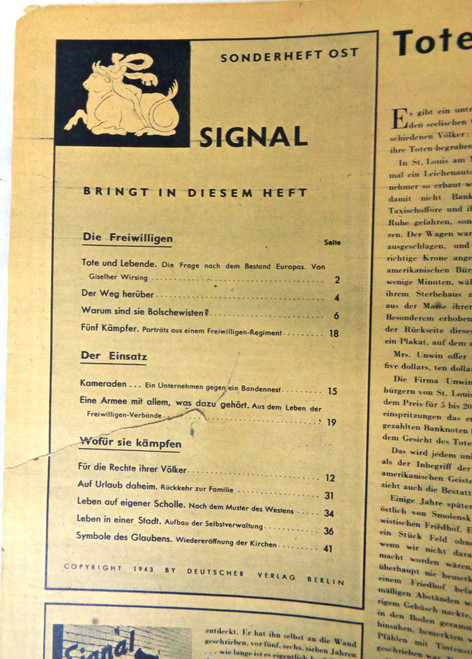 German Signal Magazine No. 24 1943