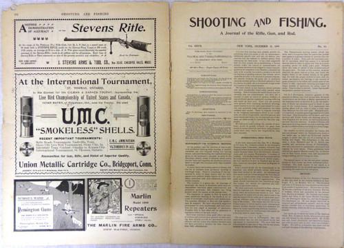 Shooting & Fishing Vol. XXVII No. 10 Periodical December 21, 1899