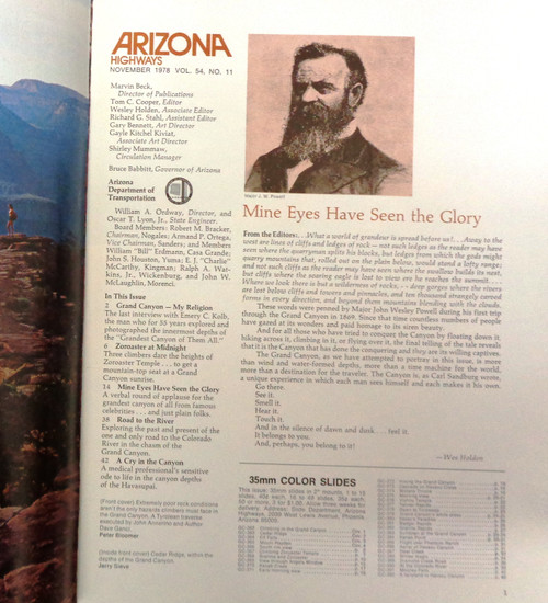 Arizona Highways Vol. 54 No. 11 November 1978