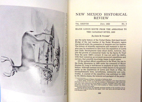 New Mexico Historical Review Vol. 38 No. 3 July 1963