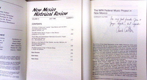New Mexico Historical Review Vol. 61 No. 3 July 1986