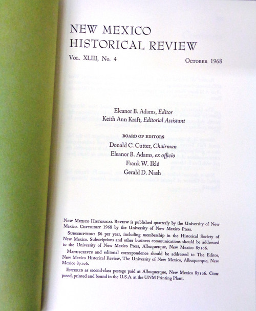 New Mexico Historical Review Vol. 43 No. 4 October 1968