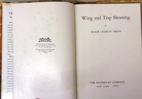 Wing and Trap Shooting by Major Charles Askins