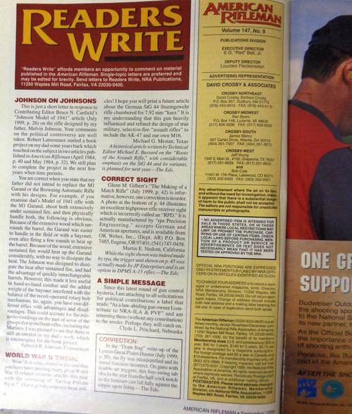The American Rifleman Magazine 1999 - September