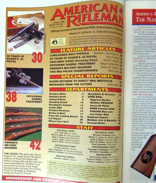 The American Rifleman Magazine 1999 - January