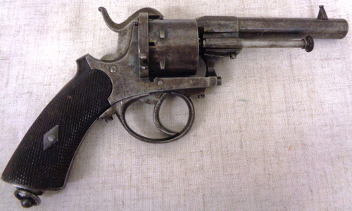 French Pinfire 9mm Double Action Revolver