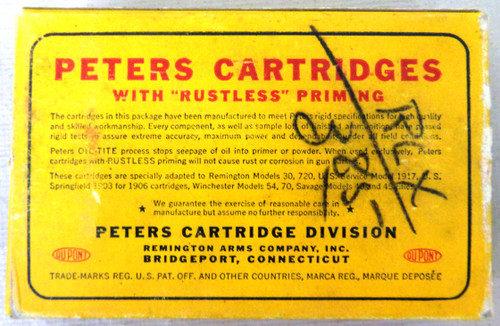 Peters 30-06 Springfield Rustless Cartridge Box and Ammo
