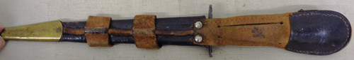 Fairbairn Sykes Fighting Knife with Brown Leather Scabbard