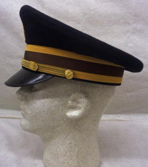 U.S. Army Warrant Officer's Dress Blue Visor Cap circa 1970's - 1980's