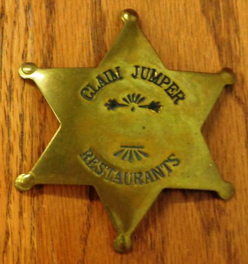 Claim Jumper Restaurants Staff Badge