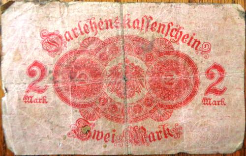 German Pre-WWII Sivei Mark 2 Paper Money