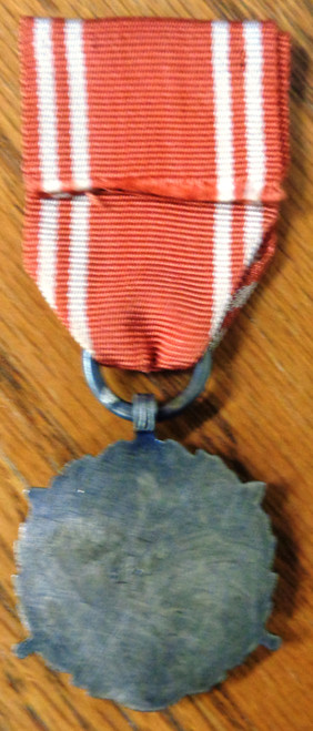 Polish Post-WWII Long Service 2nd Class Medal with Ribbon