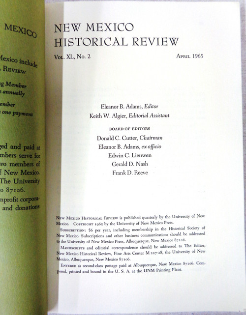 New Mexico Historical Review Vol. 40 No. 2 April 1965